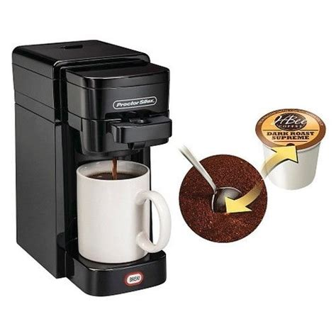 Proctor Silex Single Serve Coffee Maker   Uses K Cups* or Grounds   Black 49961   eBay