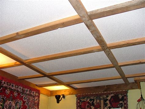 Project On Your Ceiling by Suspended Ceiling Of Recycled Lumber By Barb