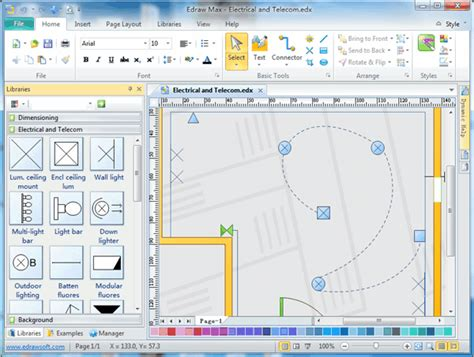 building layout design software free electrical and telecom plan software