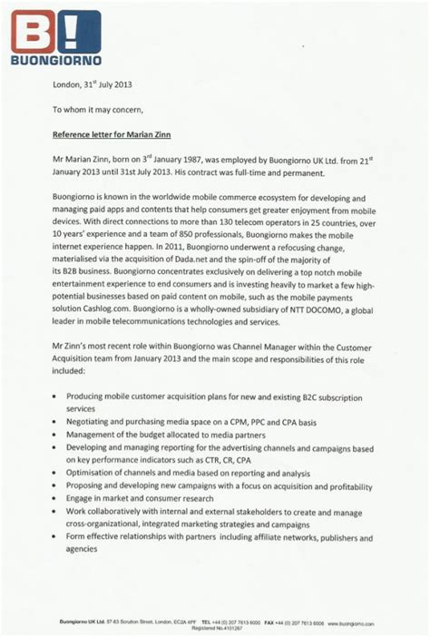 Experience Letter Recommendation Professional Reference Letters Professional Letter Format Letter Format Business 10 Best