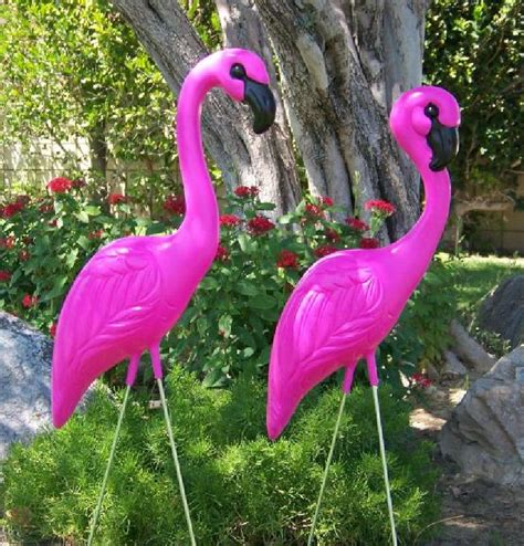 Plastic Flamingos | pink plastic flamingos and skelemingos make great gifts