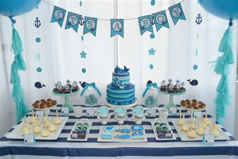 birthday decorations ideas at home blue theme decoration youtube baby whale themed