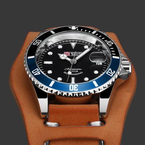 Jam Tangan Pria Rolex Kulit Otomatic royale jam tangan analog automatic pria mr136 130 134 140 142 false brown blue