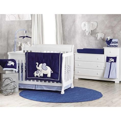 Blue Nursery Bedding Sets 17 Best Ideas About Elephant Crib Bedding On Pinterest Elephant Baby Rooms Elephant Nursery