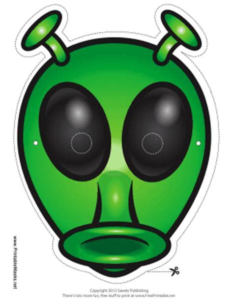 printable alien mask printable alien with antenna mask mask