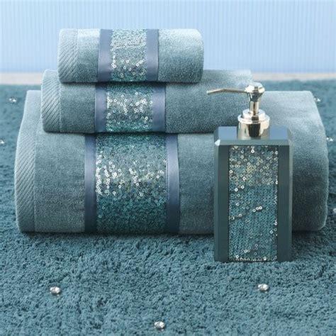 sequin bathroom sets croscill sequin shimmer teal bath collection color