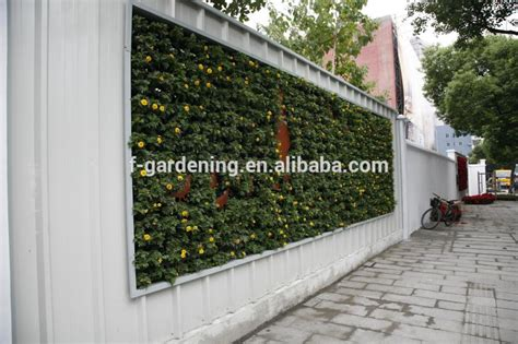 green wall panel and vertical garden pots for green wall
