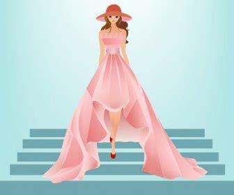 desain dress vector fashion tas toko fasad desain kartun berwarna kartun