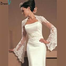 lace jacket wedding dress get cheap strapless dress accessories aliexpress