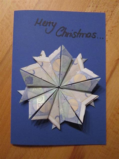 weihnachtsstern auf grusskarte geldgeschenke weihnachten
