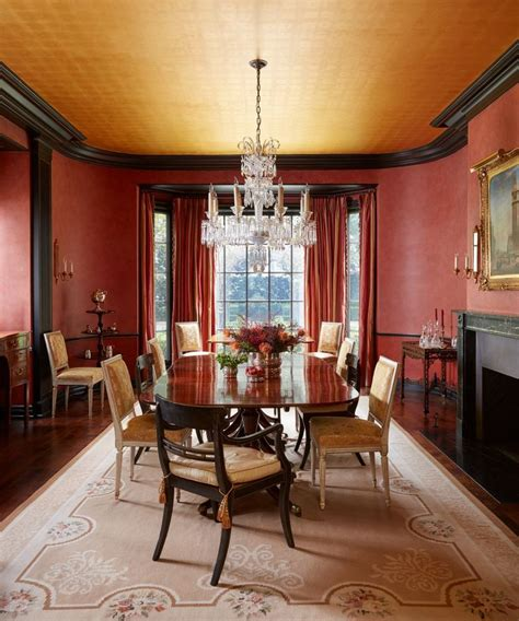 heres     bold  red paint dining room