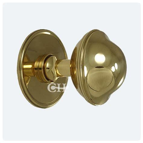 Brushed Brass Door Knobs by 4175 Plain Centre Door Knobs Or Pulls In Brass
