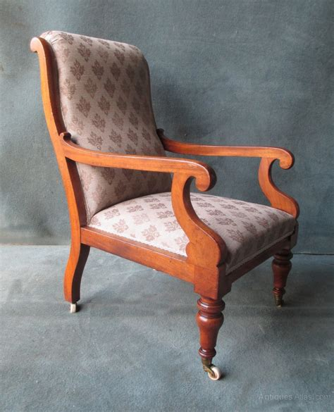 Scroll Arm Chair Design Ideas A Mahogany William Iv Scroll Arm Chair Antiques Atlas