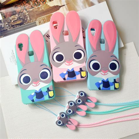 Silicon Casing Softcase 3d Vivo Y53 5 3d zootopia rabbit bunny judy phone for