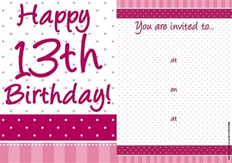 13th birthday invitations templates free 13th birthday invitations badbrya