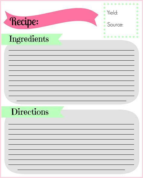 diy recipe binder pocketful  motherhood
