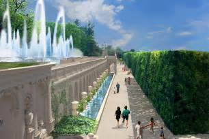 Bowl Designs new fountains with flames coming to longwood gardens