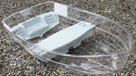 10 foot plastic boat clear row boat