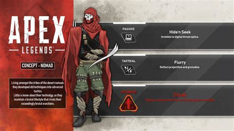 apex legends character nomad abilities leaked  data