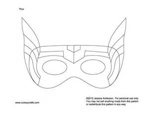thor helmet template thor mask to patterns moldes kid
