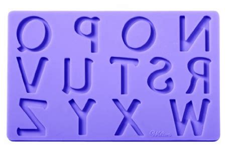 8825 3pcs Set Letter Number Silicone Fondant Gumpaste wilton fondant and gum paste silicone mold set letters