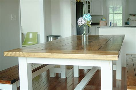 diy farmhouse table and bench plans diy farmhouse table and bench free plans from white