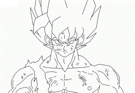 imagenes de goku sin color dibujos de goku para colorear dibujos para ni 241 os