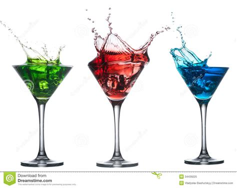 martini clipart no background cocktail splashing into glass on white stock image