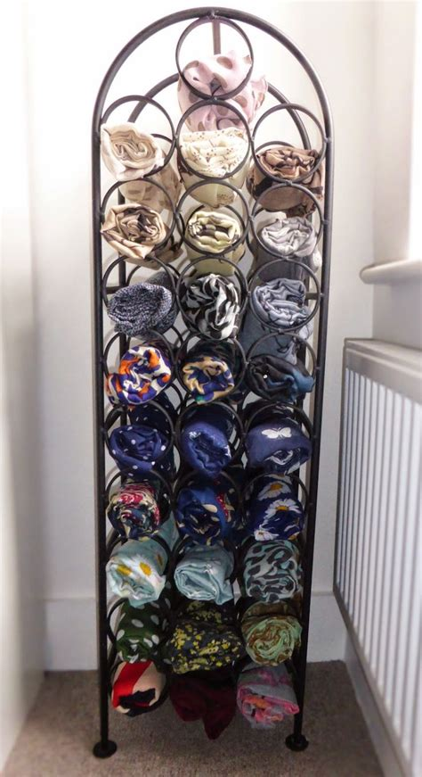 Scarf Racks For Closets by Best 25 Scarf Storage Ideas On Scarf Organization Organizing Scarves And Hanging