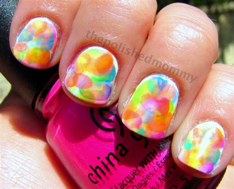 water color nails neon watercolor nails the polished