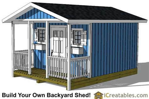 12x16 Gable Shed Plans by 12x16 Shed With Porch Icreatables