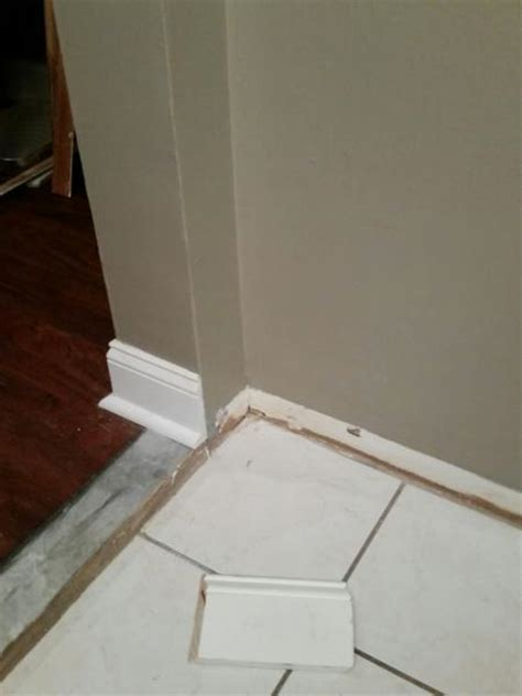 baseboard height transition baseboards across different floor levels 1 5in