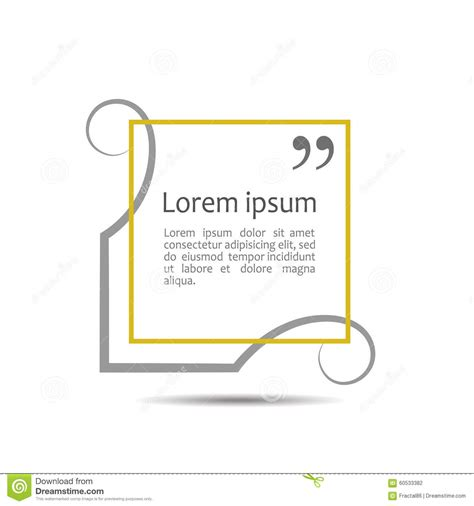 templates for text citation text box frame for decoration quote and stock