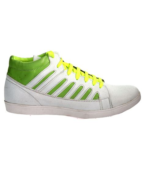 green and white shoes shoeblizz white and green casual shoes for price in