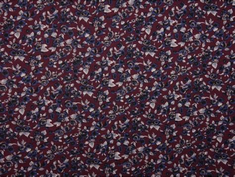 patterned jersey fabric uk printed viscose jersey fabric ditsy plum floral print