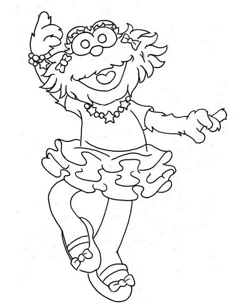 sesame street coloring pages the all character