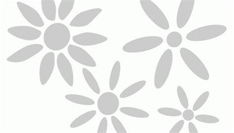 stencil con fiori stencil serie di fiori semplici