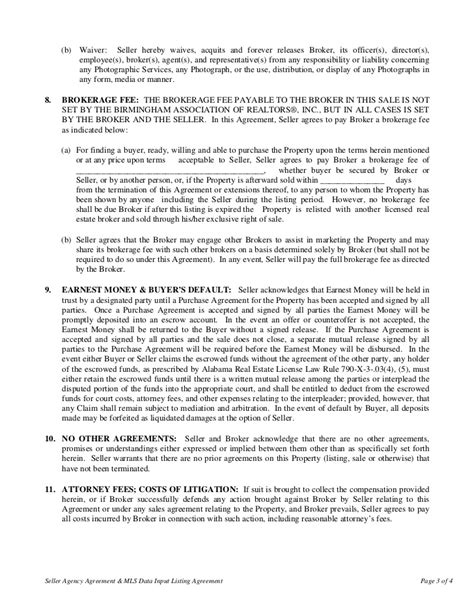 10 business listing agreements company documents