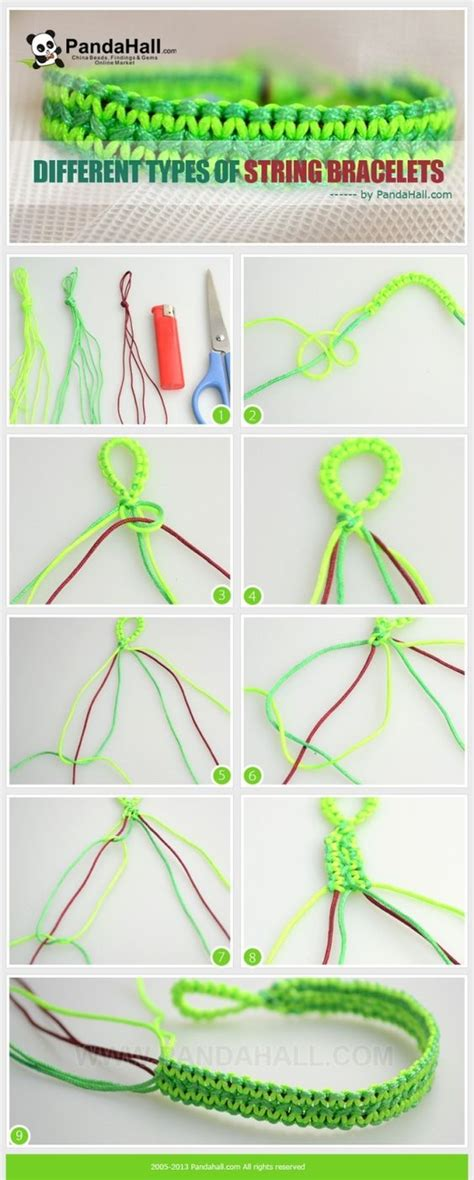 String Directions - different types of string bracelets these