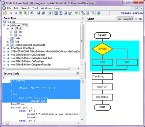 flowchart generator screenshot athtek code to flowchart code to flowchart