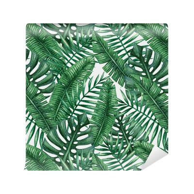 tropical pattern png watercolor tropical palm leaves seamless pattern vector