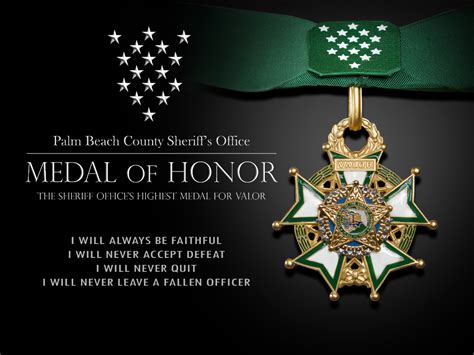 Of Honor pbso medal of honor palm county sheriff s office