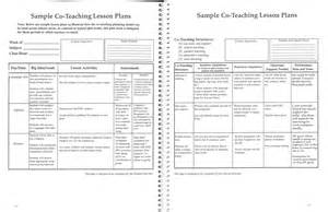 co teaching lesson plan template best photos of lesson plans for teachers elementary