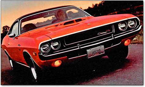 Dodge Challenger   the hot 1970 1974 muscle cars