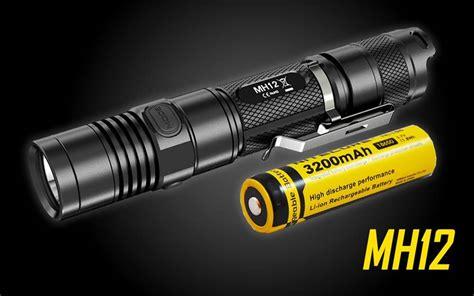 Nitecore Mh12 Flashlight 1000 Lumens Nitecore Mh12 1000 Lumen Usb Rechargeable Led Flashlight