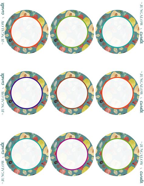 Focus On Healthy Living Free Printable Labels Jungalowjungalow Circle Sticker Labels Template