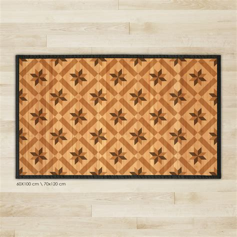 printed bamboo area rug bamboo carpet wood tile pattern