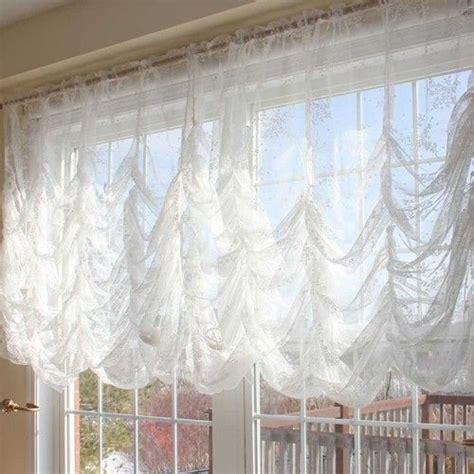 austrian curtain austrian festoon brail roman shabby victorian balloon lace