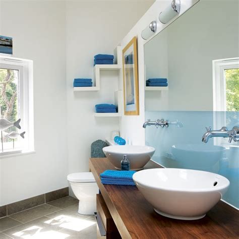 bathroom shelf idea 67 cool blue bathroom design ideas digsdigs