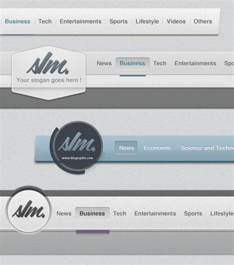 web headers psd